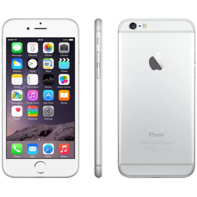Iphone 6S 32 GB  Silver-White- 1 év Apple garancia