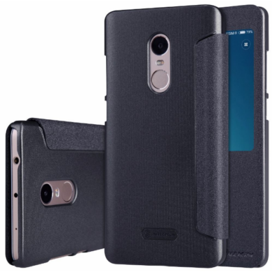 Xiaomi Redmi Note 4 / Note 4X Nillkin Sparkle ablakos flip-flop tok - fekete